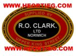 RO Clark Motorcycles Norwich Dealer Decal DDQ48